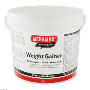 WEIGHT GAINER ERDBEERE MEGAMAX
